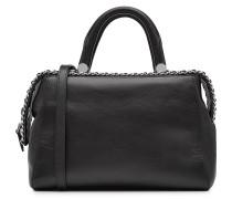 Handtasche aus Leder mit Kettendetail