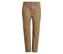 Cropped Pants aus Baumwolle im Military Look