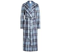 Karierter Mantel aus Alpakawolle und Wolle
