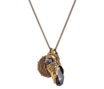 Halskette mit Medaillon und Schmucksteinen