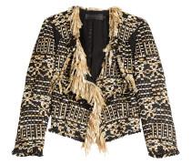 Etui-Jacke aus Tweed mit Fransen