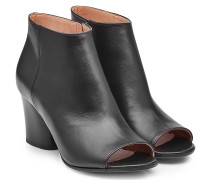Open Toe Ankle Boots aus Leder