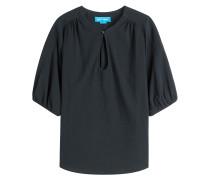 Baumwoll-Top mit gerafften Schultern