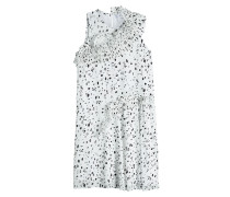 Print-Kleid mit plissierten Volants