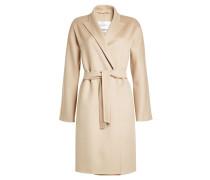 Mantel aus Schurwolle und Angora