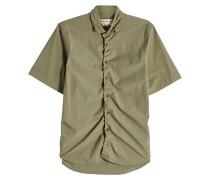 Gerafftes Hemd aus Baumwolle