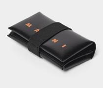 Portemonnaie mit Brand-Detail