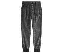 Harem-Pants in Leder-Optik