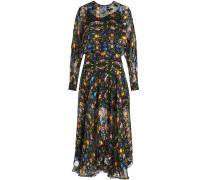 Bedrucktes Kleid Bergamot mit Seide