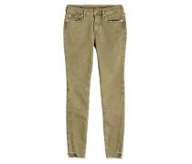 Skinny Jeans mit ausgefransten Säumen