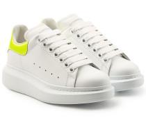 Kalbsleder-Sneakers mit Lackleder
