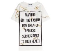 Shirt-Kleid aus Baumwolle mit Print
