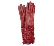 Gerüschte Handschuhe aus Lammleder