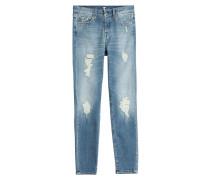 Straight-Leg Jeans mit Used-Effekten