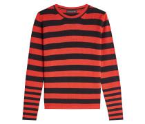 Gestreifter Pullover mit Wolle und Kaschmir
