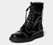 Boots mit Lack-Optik