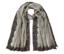 Bestickter Schal mit Wolle
