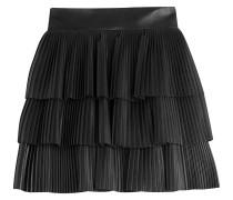 Plissierter Mini-Skirt aus Lammleder
