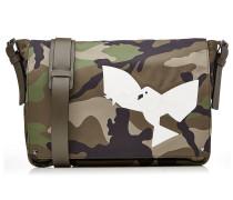Camouflage Messenger Bag aus Leder