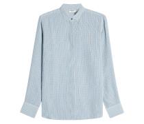 Gemusterte Bluse aus Seide