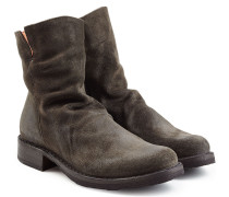 Ankle-Boots aus Veloursleder im Distressed-Look