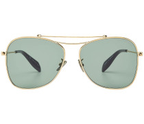 Aviator-Sonnenbrille mit doppeltem Steg