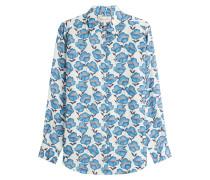 Bedruckte Bluse mit Blumenmotiv