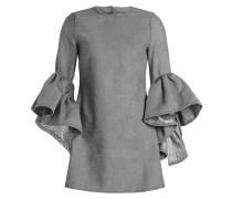 Minikleid mit Baumwolle und Volants