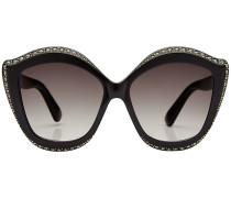 Oversized Sonnenbrille mit Décor