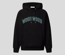Hoodie mit Label-Print