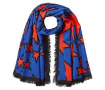 Bedruckter Schal mit Wolle