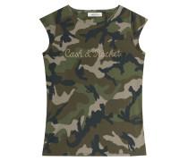 Valentino Cash & Rocket Camouflage-Shirt mit Nieten