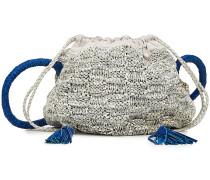 Gestrickte Bucket Bag Portia aus Leder