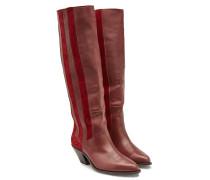 Cowboy-Boots aus Leder und Veloursleder