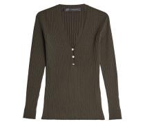 Pullover aus Wolle mit verzierten Knöpfen