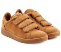 Veloursleder-Sneakers mit Klettverschluss