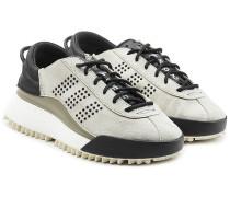 Low Top Sneakers Hike mit Leder und Veloursleder