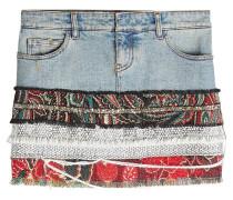 Jeansrock mit Zierborten