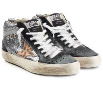 Leder-Sneakers Midstar mit Glitter