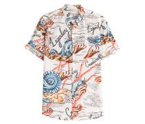 Kurzarmhemd aus Baumwolle mit Print