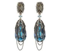 Ohrringe mit Kristallen und Gliederketten