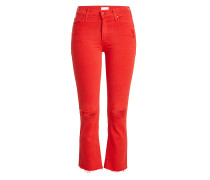 Flared Jeans Insider Crop Fray