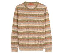 Streifenpullover aus Baumwolle und Wolle