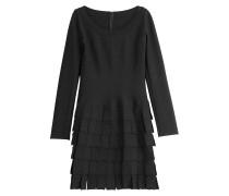 Minikleid mit Wolle und breiten Fransen