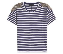 Gestreiftes T-Shirt mit Décor