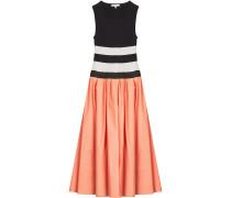 Kleid im Material-Mix