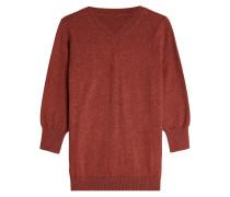 V-Pullover aus Wolle und Baumwolle