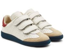 Sneakers Beth aus Leder und Veloursleder
