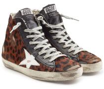 High Top Sneakers Francy mit Leder und Animal Print
