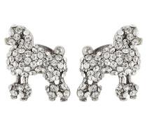 Ohrringe mit kristallbesetzten Pudeln